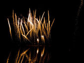 Nightly firework over the water — Stock Photo