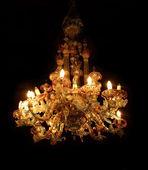 威尼斯玻璃吊灯 — 图库照片