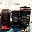 Three antique camera - Stock Photo