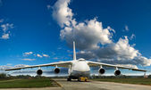 Large cargo plane on the ground — Stock Photo
