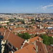 Rooftops of Prague from bell tower of Cathedral St.Vitus — Stock Photo #20020979