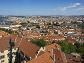 Rooftops of Prague from the bell tower of the Cathedral St.Vitus — Stock Photo
