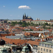 View from the Old Town Hall in the direction of Prague Castle an — Stock Photo