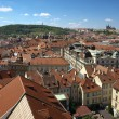 View from the Old Town Hall at Prague Castle and Petrin — Stock Photo