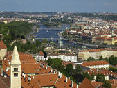 Prague in the north-east from the bell tower of the Cathedral St — Stock Photo