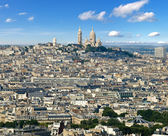 Montmartre from Eiffel Tower — Fotografia Stock