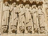 Notre Dame de Paris, portal Doomsday. — Stock Photo