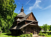 Ukrainian ancient wooden church — Stock Photo