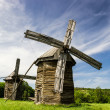 Two old wooden windmills — Stock Photo #26130767