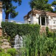"Stock Photo: Artificial waterfall ""Ruins"" in arboretum Alexandria"