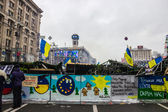 Posters on Maidan in Kiev — Stock Photo
