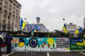 Posters on Maidan in Kiev — Stock Photo