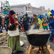 Everyday life on the Maidan in Kiev — Stockfoto