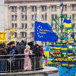 Meeting for European integration in center of Kiev — Stockfoto