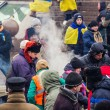 People on Maidan in Kiev — Stockfoto