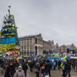 Stock Photo: Meetingy for European integration in center of Kiev