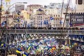 Meeting for European integration in center of Kiev — Stock Photo