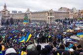 Rally for European integration in center of Kiev — Stock Photo