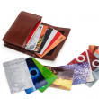 Wallet with discount plastic cards — Stock Photo #39277535