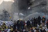 Application of the jet in Kiev, Ukraine — Stock Photo