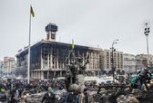 Maidan after cessation of clashes — Stock Photo