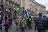 Tropas de autodefensa del maidan en kiev — Foto de Stock