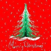 Vector illustration of decorated Christmas tree — Stock Photo