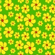 Seamless hand-drawn pattern, floral background. — Stock Photo
