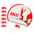 Vector sale Christmas stickers with traditional decorations — Stock Photo