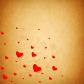 Valentines day background with hearts. — Stok fotoğraf