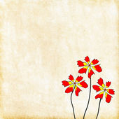Painted red flowers. — Stock Photo