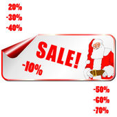 Vector sale Christmas stickers with traditional decorations — Stockfoto