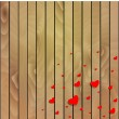 Valentines day background with hearts. — Stock Vector
