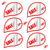 Vetor adesivos de natal venda — Vetorial Stock