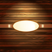 Vintage frame on dark wooden planks background — Vector de stock