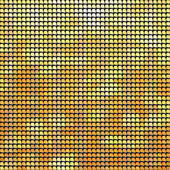 Abstract yellow pixel mosaic seamless background. — Stock Vector