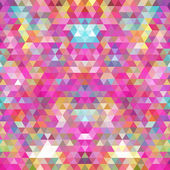 Abstract geometric triangle seamless pattern. Abstract colorful triangles background — Stock Vector