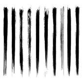 Vector set of grunge brush strokes. Black vector brush strokes collection. — ストックベクタ