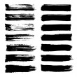 Vector set of grunge brush strokes. — Stock Vector