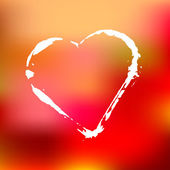 Valentine's Day Background with Heart. — 图库矢量图片