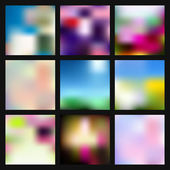 Smooth abstract colorful backgrounds set — Stock Vector