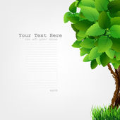 绿色的树叶与季节树. — 图库矢量图片