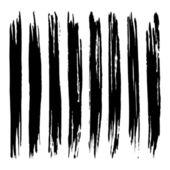 Set of grunge brush strokes. — Stock Vector
