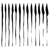 Grunge fırça darbeleri kümesi — Stok Vektör