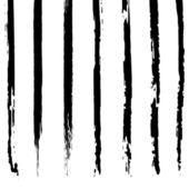 グランジのブラシ ストロークのベクトルを設定. — ストックベクタ