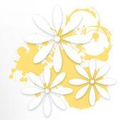 Floral fond de papier — Vecteur