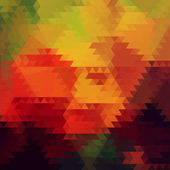 Autumn triangle vector background. — 图库矢量图片