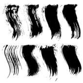 Set of grunge brush strokes — Stock Vector