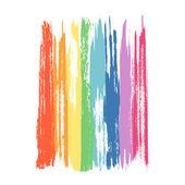 Art rainbow colors brush stroke paint background — Stock Vector