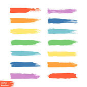 Art rainbow colors brush stroke paint background — Stock Vector